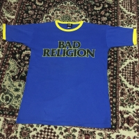 Official Band Merch Vintage 90s Bad Religion Ringer T-shirts