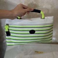 Tas tangan Longchamp pouch hijau putih