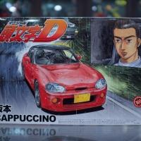 Aoshima 4905083039519 Initial D Suzuki Cappuccino EA11R Kei F6A Turbo