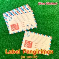 Label Pengiriman (non sticker) Online Shop / Label Nama Penerima