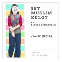 setelan anak celana kulot jilbab baju muslim anak little pineapple