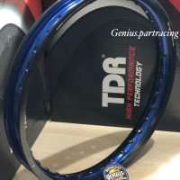 VELG TDR W SHAPE BLACK/ BLUE 160/17 RING 17 UKURAN 160 (TWO TONE)