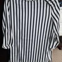 Blouse atasan kerja mango garis / stripe hitam putih mango suit