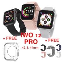 Smartwatch IWO 11 Original Clone Apple Watch 5 Series 4 GPS Bonus Tali - Hitam, IWO 13 44mm