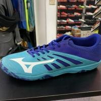 Sepatu futsal mizuno original Basara Sala 103 peacock blue new 2018