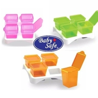 Baby Safe Multi Food Container isi 4 AP009 babysafe simpan puree mpasi