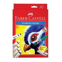 FABER CASTELL CAT ARCYLIC TUBE 12ML -12COLOUR