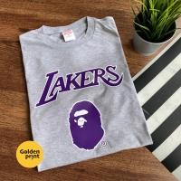 BAPE x Mitchell & Ness Lakers / kaos bape x lakers