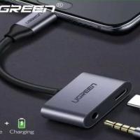 Ugreen sambungan type c konektor converter kabel jack audio 3.5mm