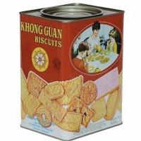Khong Guan Biscuit Kaleng Besar Persegi 1600gram