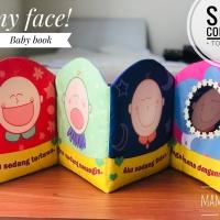 MY FACE BABY SOFT BOOK buku bantal lipat bayi lihat wajahku