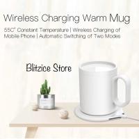 Wireless Charging Thermos Electric Coffee Cup Mug Warmer - Putih