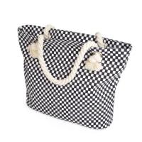 Tote bag besar dan fungsional dengan motif checker