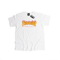 Thraser T-shirt Flame White Japan Licensed - 100% ORIGINAL / RESMI