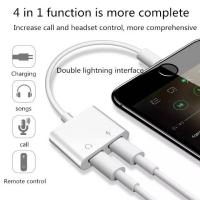 Dual Lightning Splitter audio aux jack charger iphone 7 8 plus X X Max