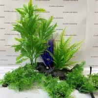 Tanaman Bunga Hias Plastik Aquarium Aquascape Import Aksesoris D 801