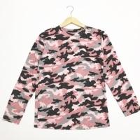 Euro Army Pattern Loreng Tee Kaos Wanita Shirt - S 6761