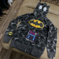 Bathing ape bape x dc batman hoodie