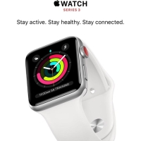 Apple Watch Series 3 38 MM Silver Almunium Case With White Sport Band