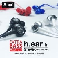 LIGER Handsfree headset earphone L-10 METAL stereo & bass