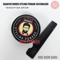 SHANTOS ROMEO STYLING POMADE STRONG WATER BASED 75GRAM BPOM FREE SISIR