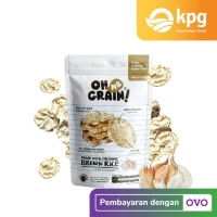 Oh Ma Grain! - Popped Rice Crackers Garlic - Snack Diet - 50 gr