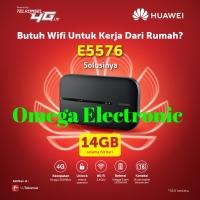 RESMI Modem Wifi MIFI 4G LTE Huawei E5573 UNLOCKED Free Telkomsel 14gb - Putih