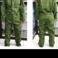 Baju seragam celana linmas / hansip 1 stel lengkap dengan bordier