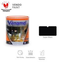 Cat Kayu dan Besi Venamel 0,9 L Super Black setara Emco,Bee Brand