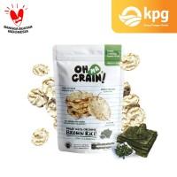 Oh Ma Grain! - Popped Rice Crackers Seaweed - Rasa Rumput Laut - 50 Gr