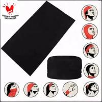 Baf Baff Masker Hitam Polos Import - Bandana Multifungsi