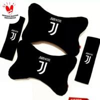 Bantal Mobil Set 2in1 Juventus / Headrest Car Set 2 in 1 JUventus
