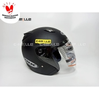 Helm INK Centro Original Black dop / hitam dof