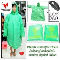 Jas Hujan Plastik Ponco Plastik Sekali Pakai Disposable Raincoat BAMBU