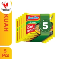 5 Pcs - Indomie Kuah Kari Ayam