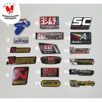 Stiker Sticker Almunium Akrapovic Yoshimura SC Project Austin Racing