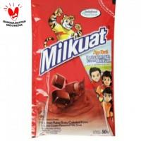 Susu UHT Milkuat Pouch 50 ml Cokelat Malt Cokelat Bantal Milkuat