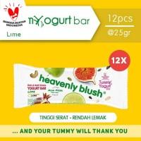 Heavenly Blush Tummy Yogurt Bar Lime 12Pcs @25gr