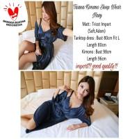Triana kimono sleep wear Navy [Baju Tidur 0141] QL7