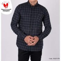 kemeja flanel cowok / baju kotak flannel pria lengan panjang slim fit