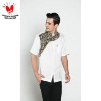 Baju koko batik kualitas premium kode TN 34 putih