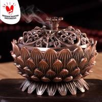 Tempat Bakar Dupa Bunga Lotus Mabkhara / Bakhoor / Bakhur / Kemenyan 2