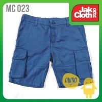 MIMO KIDS CARGO SHORT MC 23 BLUE Celana Kargo Pendek Anak