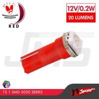 Lampu LED T5 1 SMD 5050 Light Bulb - Red