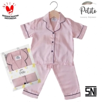 Petito Piyama Baju Tidur Bayi Anak / Rose Gold - S 6-24 Bulan