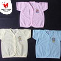 Baju Bayi Lengan Pendek Bahan PE ( Harga Lusinan )