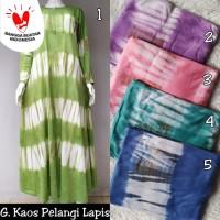 Gamis kaos murah / baju hamil & menyusui / gamis pelangi tiedy