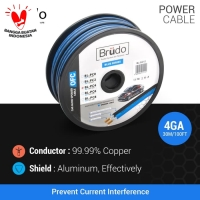 Brudo BL PC4 - Kabel Power 4 Awg (1 Meter)- Germany Technology
