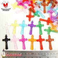 Bandul Salib Akrilik/Acrilyc/Acrilic Benedictus Jesus - Kalung Rosario
