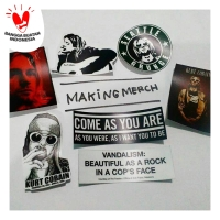 Sticker musik band grunge KURT COBAIN NIRVANA